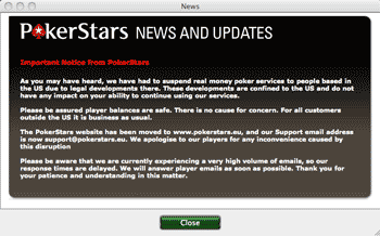 PokerStars Website FBI Message