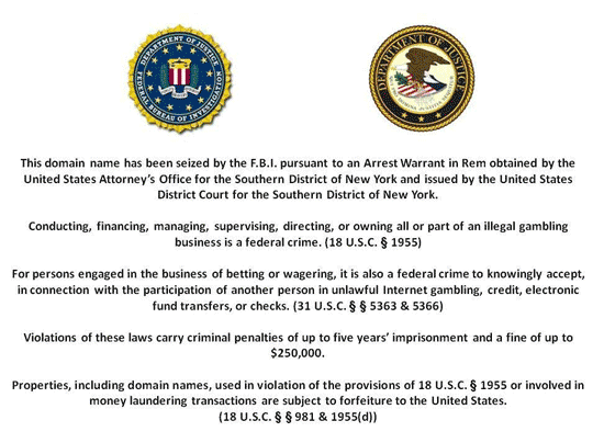UB Website FBI Message
