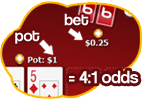 Poker bank pot odds