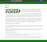 HigherLevelPoker.com About Page Screenshot Thumbnail