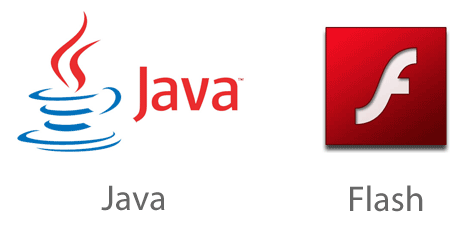 Java and Flash Logos