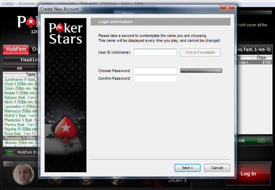 pokerstars com login