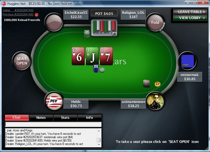 Pokerstars play money only
