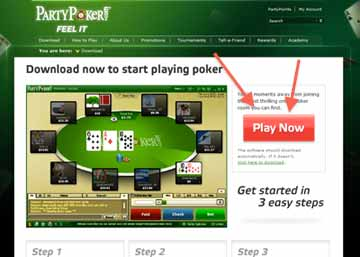 Poker Site Software Download Button